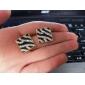 2013 European and American style square box zebra stripe diamond earrings diamond earrings E46