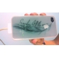 motif de plume fluorescence après cas arrière dur ensoleillement pour iPhone 4 / 4S