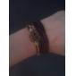Creux Bracelet en cuir fleur