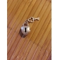 alliage de coeur whorled grands trous des perles de bricolage pour collier ou un bracelet