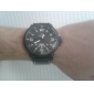 Men's High-End Military Style Date and Week Display Leather Strap Quartz Wrist Watch (Assorted Colors) Cool Watch Unique Watch