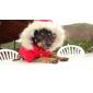 Cachorro Casacos Camisola com Capuz Roupas para Cães Mantenha Quente Reversível Natal Floco de Neve Marron Vermelho Ocasiões Especiais