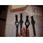Homens Relógio de Pulso Japanês Quartzo Silicone Banda Preta