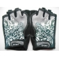Black+White Comfortable Short-finger Gloves for Cycling
