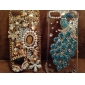 Павлин шаблон металлические украшения Назад Чехол для iPhone 5C