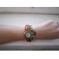 Mulheres Relógio de Moda Quartz PU Banda Heart Shape Preta / Azul / Vermelho / Laranja / Marrom / Verde marca-