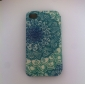 Special Grains Beautiful Flowers Pattern PU Full Body Case with Card Slot for iPhone 4/4S
