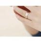 Fashion Creative Trichromatic Three-Ring Ring