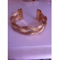 cuff trançado liga bracelete das mulheres (cores sortidas)