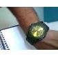Homme Montre Militaire Montre Bracelet Quartz Tissu Bande Noir Bleu Vert