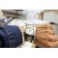 Mulheres Relógio Elegante Quartz Aço Inoxidável Banda Prata marca-