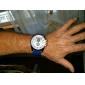 V6 Homme Montre Militaire Montre Bracelet Quartz Polyuréthane Bande Marron Vert Bleu marine