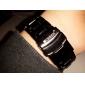 남성 손목 시계 석영 스테인레스 스틸 밴드 블랙 실버 상표