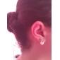 Boucle d'oreille de couronne de coeur