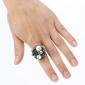 z&x® les roses des femmes anneau de perle ouverte