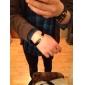 Pulseira Masculina de Couro Moda Titanium Aço Cruz Woven