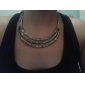 Women's Neo-classical style half-moon shape fashion sweater chain N240