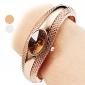 Жен. Модные часы Часы-браслет Повседневные часы Кварцевый сплав Группа Кольцеобразный Элегантные часы Серебристый металл Бронза