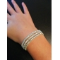 Lureme Simple Row Crystals Elastic Bracelet Jewelry Christmas Gifts