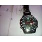 WEIDE Hommes Montre Bracelet Quartz Quartz Japonais LED Calendrier Chronographe Etanche Double Fuseaux Horaires penggera Acier Inoxydable