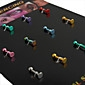 Unisex Multicolor Navel & Bell Button Rings 1.2*0.3*0.2(16 PCS Per Package)