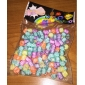 Rainbow Colorful Loom Rubber Band Color Macroporous fluorescence Letter Beads 200 Pcs