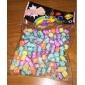 무지개 화려한 베틀 고무 밴드 색상 거대 형광 편지 구슬 200 개