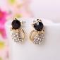 les nouvelles oreilles diamant bijoux petites boucles d'oreilles de minou éclair mignon (couleur aléatoire)