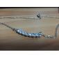 Feminino Luxo Pedras dos signos Colares com Pendentes Imitações de Diamante Liga Colares com Pendentes , Festa