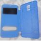 제품 삼성 갤럭시 케이스 케이스 커버 윈도우 플립 울트라 씬 풀 바디 케이스 한 색상 인조 가죽 용 Samsung S5
