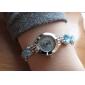 아가씨들 패션 시계 팔찌 시계 석영 합금 밴드 블랙 화이트 블루 핑크