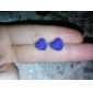 Forme de Coeur Boucles d'oreille goujon Bijoux Femme Cœur Quotidien Alliage Noir Blanc Rouge Bleu