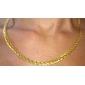 Feminino Colares em Corrente Colares Declaração Formato Circular Formato de Cruz Chapeado Dourado Moda bijuterias Jóias Para Casamento