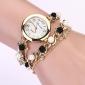 Mulheres Relógio de Moda Bracele Relógio Quartzo imitação de diamante Metal Banda Pérolas Elegantes Preto