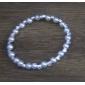 strass branco pérola pulseiras das mulheres