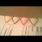 Heart Pattern Plastic Wrapped Paper Clips(10PCS)