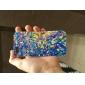 Colorful quebrado Caso Espelho plástico de volta para o iPhone 5/5S