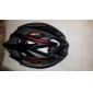 MOON Bike Helmet Cycling Black and Red PC/EPS 21 Vents Protective Ride Helmet Adults Kids One Piece Ultra Light (UL) Adjustable Sports Helmet