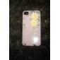 아이폰 4/4S를위한 진주 꽃 패턴 금속 보석 뒤 케이스
