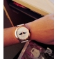 Mulheres Relógio de Moda Japanês Quartzo PU Banda Bigodes Preta Branco Azul Vermelho Marrom Verde Rosa Amarelo RoseMarron Vermelho Verde