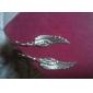 Wings Shape Antique Silver Earrings