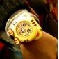 tigre estilo dobrável plástico banda tapa relógio de pulso das crianças