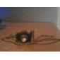 vintage bronze forma câmera diamanted pingente de colar (1 pc)