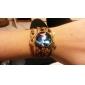 Галактика поделки ручной работы бабочка камень шпагат коричневый кожаный браслет основы (1 шт)