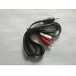 Стерео, твин, аудио кабель, красный и белый, 2x RCA для 3,5 мм, 5 футов