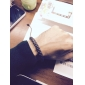 9 mm Round Braided Leather Bracelet With Coffee