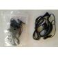 Premium Hands-Free Clip-On Microphone Earphones for Walkie Talkie (Black)