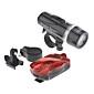 2-Mode 5xLED велосипедов Фары + Задние фонари велосипедов костюмы (4xAAA +2 xAAA, черный + красный)