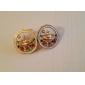 Korean fashion inlaid diamond Saturn earrings drop earrings enamel earrings universe  E444
