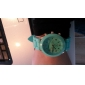 여성용 패션 시계 캐쥬얼 시계 석영 실리콘 밴드 캔디 블랙 화이트 블루 레드 브라운 그린 핑크